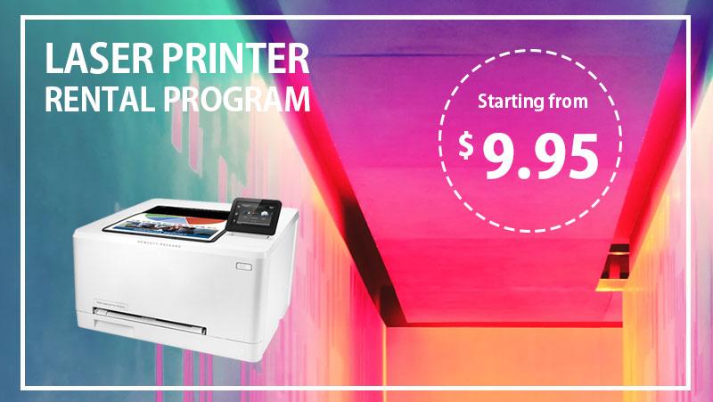 laser printer rental banner